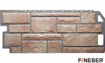 фасадная панель fineber камень терракотовый