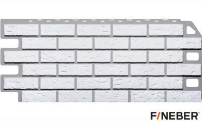 фасадная панель fineber кирпич белый
