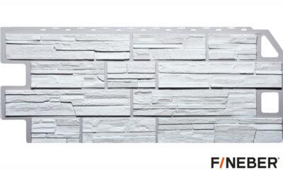 фасадная панель fineber сланец белый