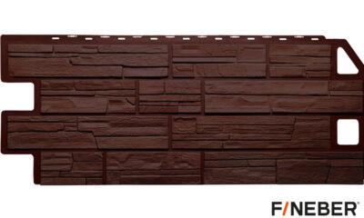фасадная панель fineber сланец коричневый