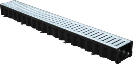 Лоток пластиковый водоотводный Top 100.80мм c оцинкованной решеткой