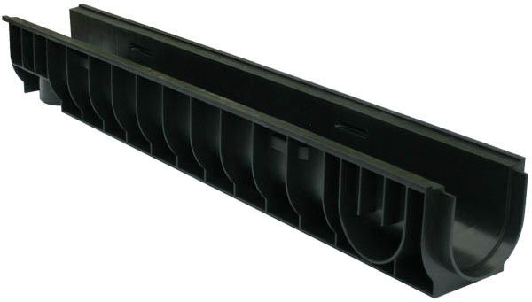 Лоток водоотводный пластиковый 1000х160х130мм DN100
