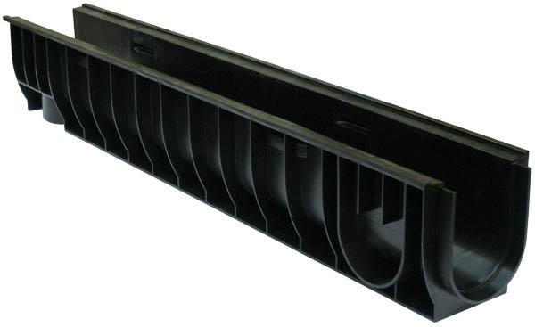 Лоток водоотводный пластиковый 1000х145х185мм DN100