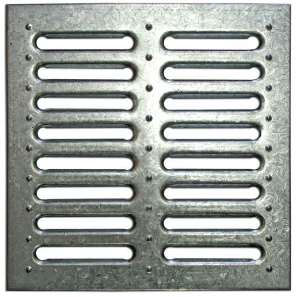 Решетка водоприемная стальная штампопанная для дождеприемника PB 280х280мм