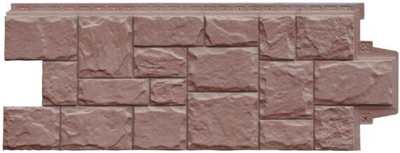 Фасадная панель Grand Line Крупный камень Элит миндаль