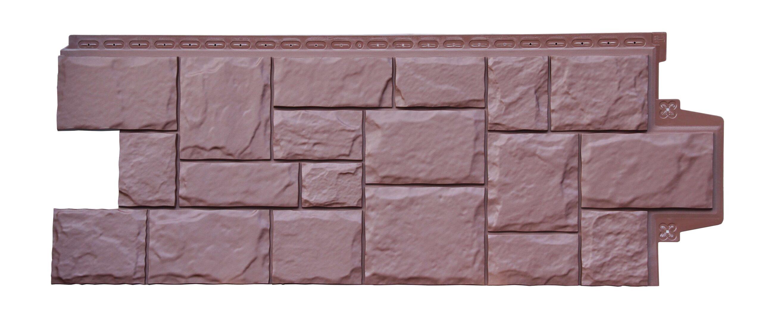 Фасадная панель Grand Line Крупный камень Стандарт земля