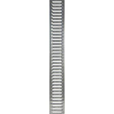 Решетка для лотка водоотводного Standart стальная оцинкованная PB 1000х136х14мм DN100 GidroGroup