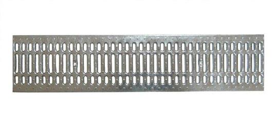 Решетка водоприемная Standart стальная штампованная оцинкованная PB 1000х236х15мм DN200