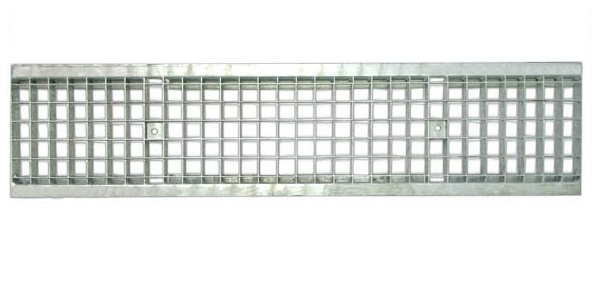 Решетка водоприемная Standart стальная ячеистая оцинкованная PB 1000х236х33мм DN200